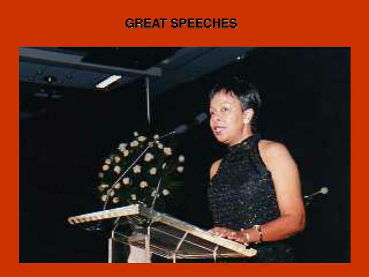 GREAT SPEECHES