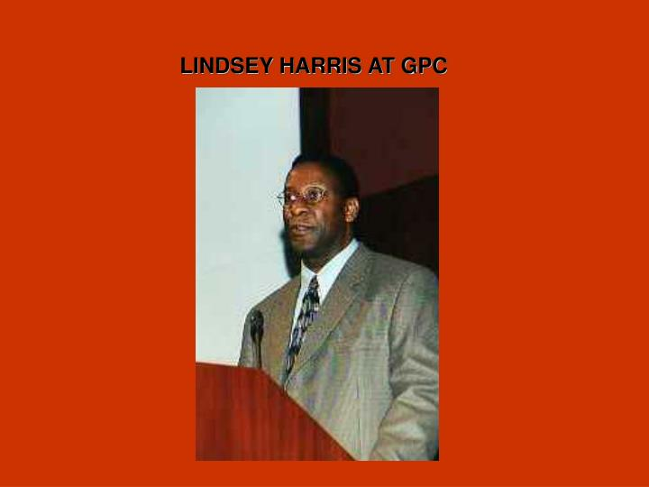 LINDSEY HARRIS AT GPC