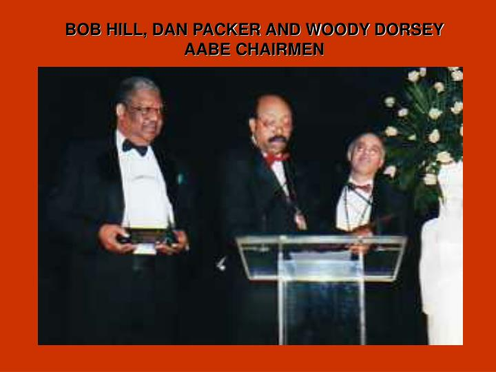 BOB HILL, DAN PACKER AND WOODY DORSEY  AABE CHAIRMEN