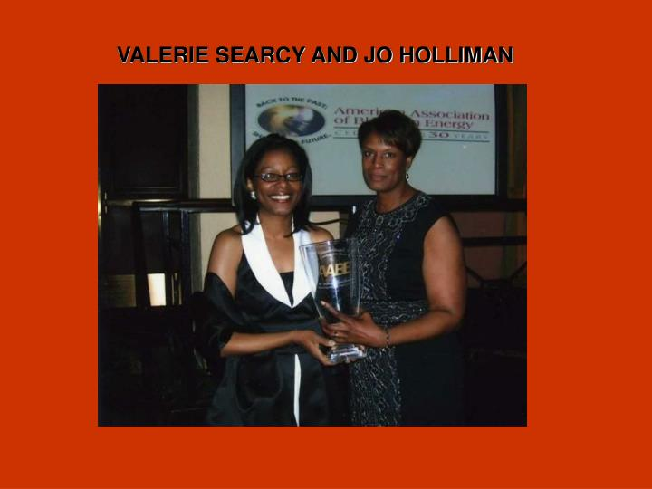 VALERIE SEARCY AND JO HOLLIMAN