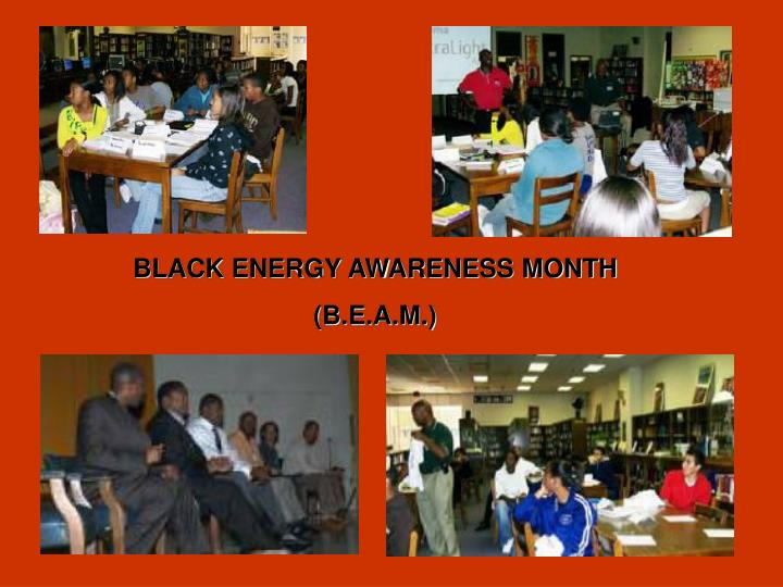 BLACK ENERGY AWARENESS MONTH