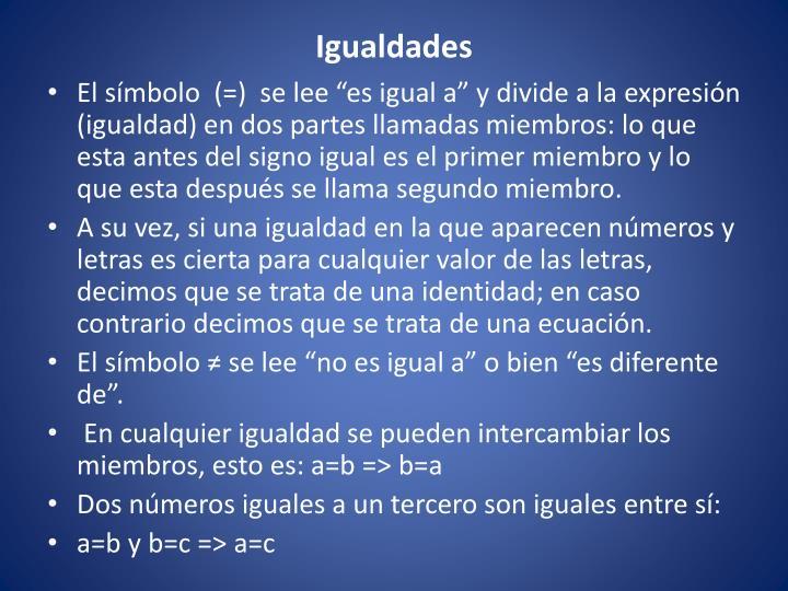 Igualdades