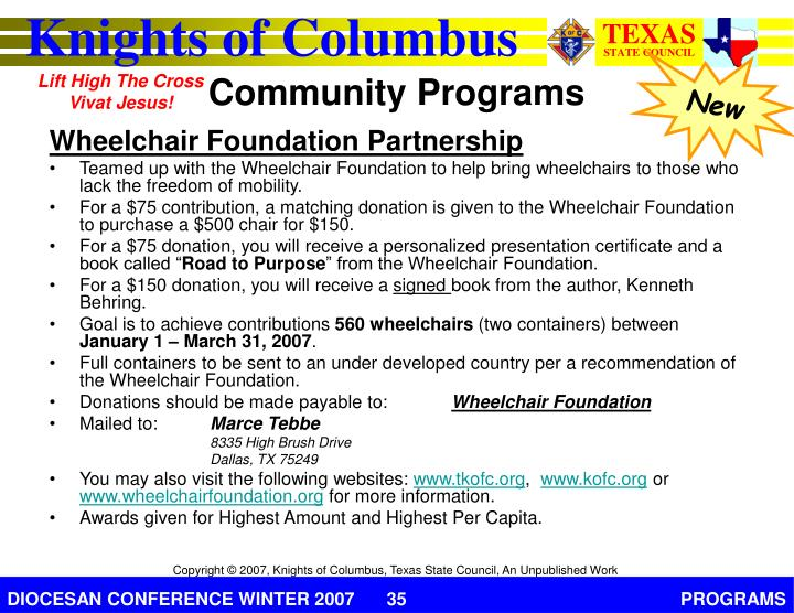 Wheelchair Foundation Partnership