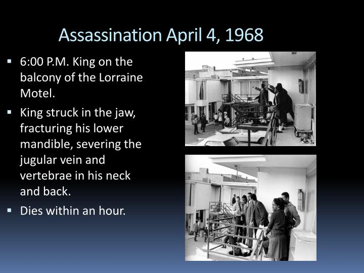 Assassination April 4, 1968