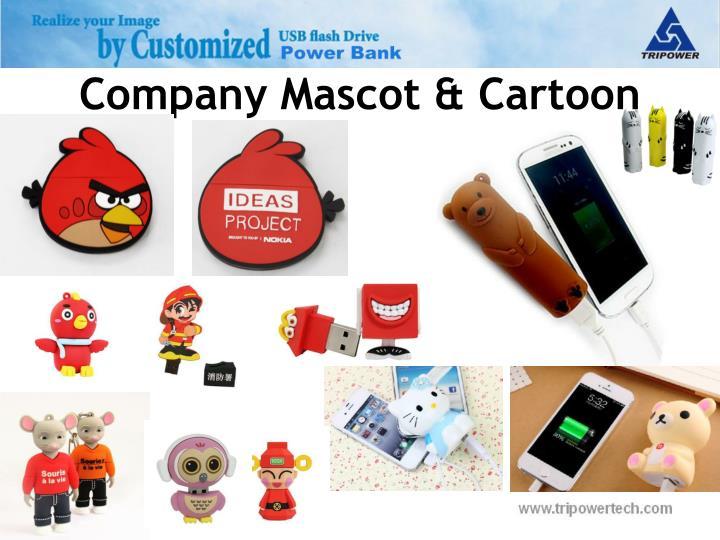 Company mascot cartoon