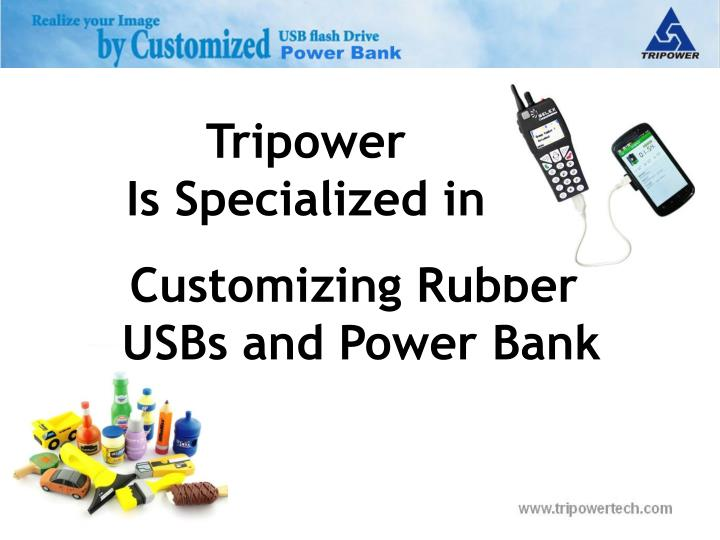 Customizing rubber usbs and power bank