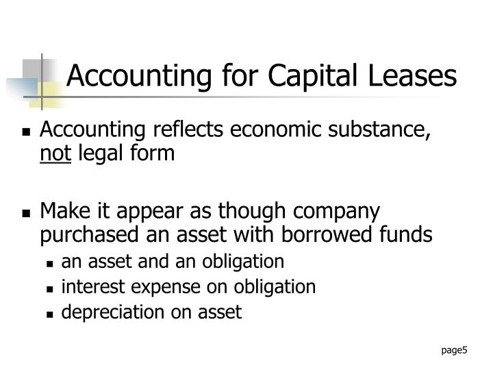 Accounting for Capital Leases