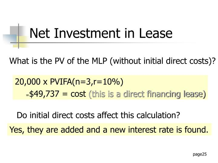Net Investment in Lease