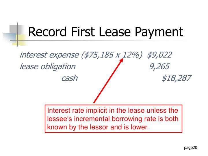 interest expense ($75,185 x 12%)  $9,022