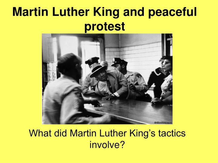 martin luther king and peaceful protest n.