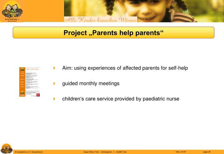 """Project """"Parents help parents"""""""