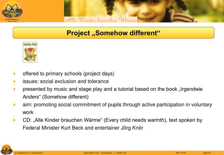 """Project """"Somehow different"""""""