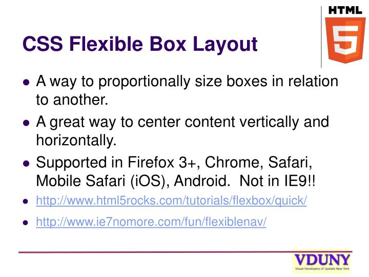 CSS Flexible Box Layout