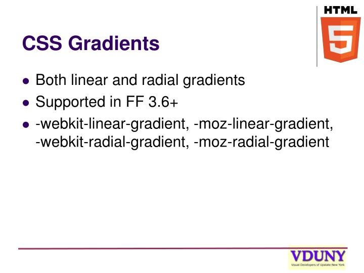 CSS Gradients