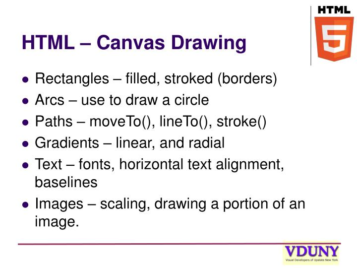 HTML – Canvas Drawing