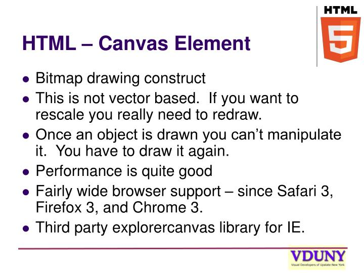 HTML – Canvas Element