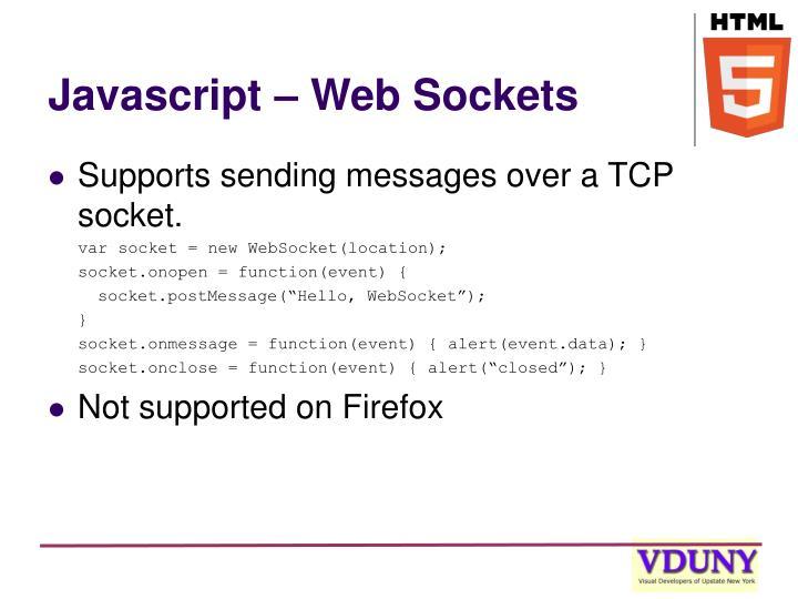 Javascript – Web Sockets