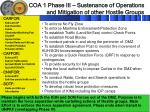 coa 1 phase iii sustenance of operations and mitigation of other hostile groups