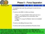 phase ii force separation