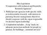 moz legislation cooperation with technical and scientific research agencies