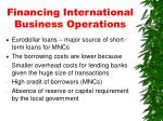 financing international business operations