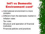 int l vs domestic environment cont