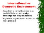 international vs domestic environment