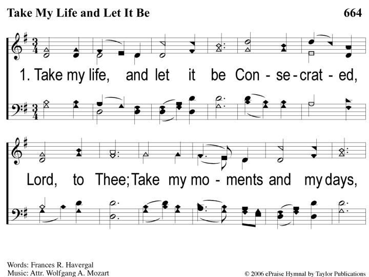 1 1 take my life and let it be n.