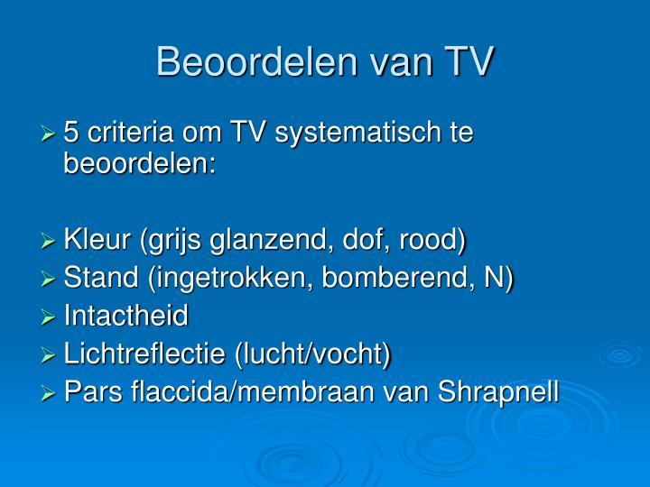 Beoordelen van TV