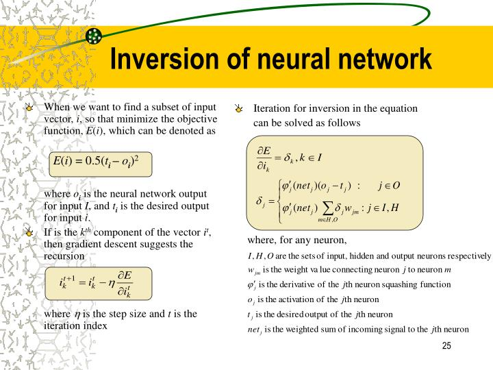When we want to find a subset of input vector,
