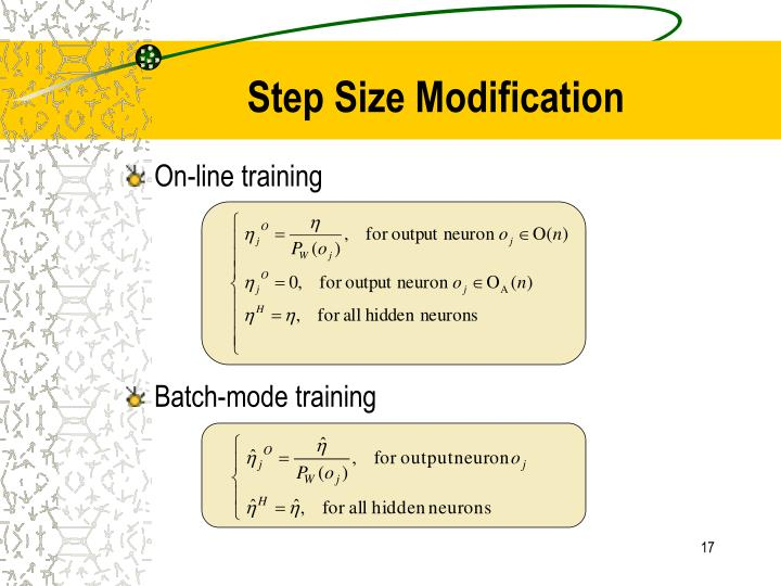 Step Size Modification