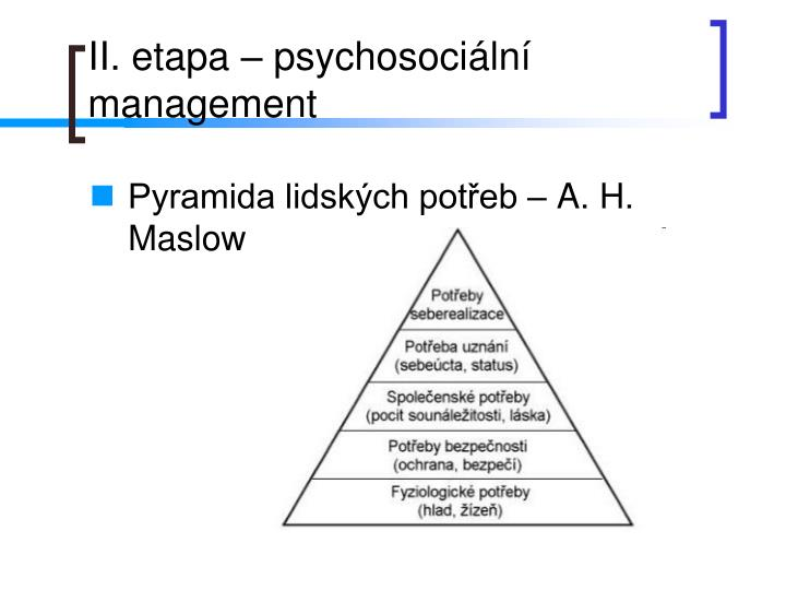 Pyramida lidských potřeb – A. H. Maslow