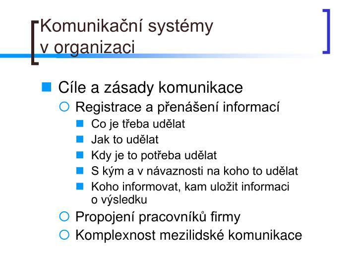 Komunikační systémy