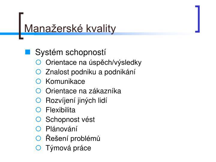 Manažerské kvality