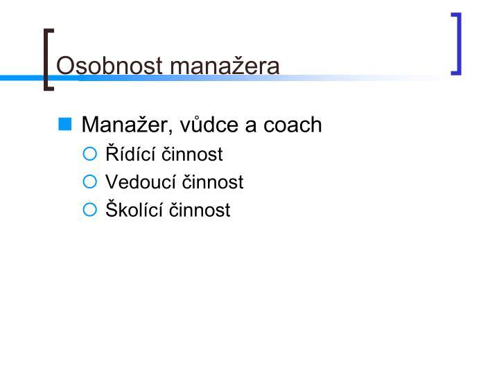 Osobnost manažera