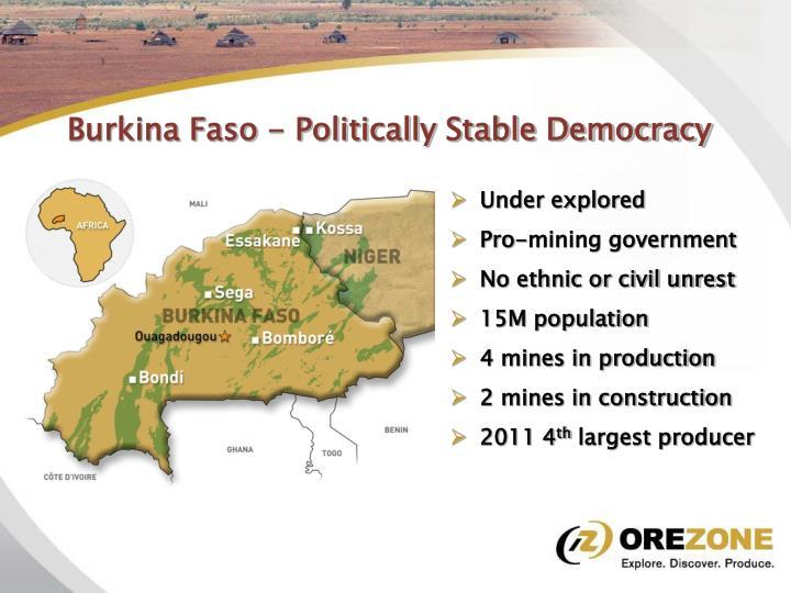Burkina Faso - Politically Stable Democracy