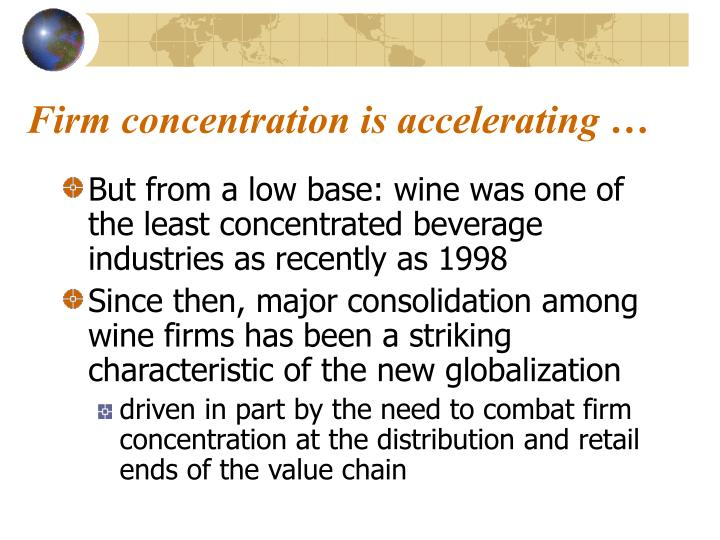 Firm concentration is accelerating …