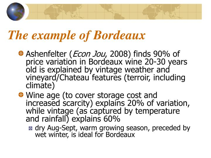 The example of Bordeaux