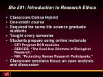 bio 591 introduction to research ethics
