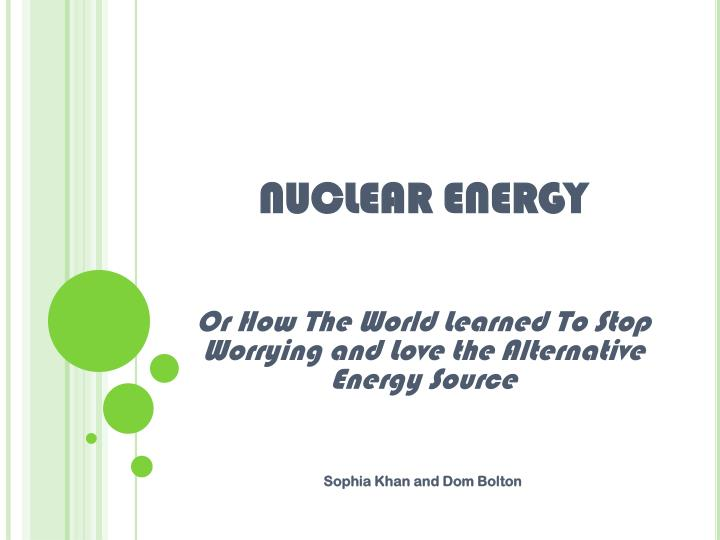 nuclear energy a burden or a blessing essay Nuclear energy is such a power of the modern age as cannot be ignored at all it is a common belief that science is the mixed blessing there are different advantages and disadvantages of it.