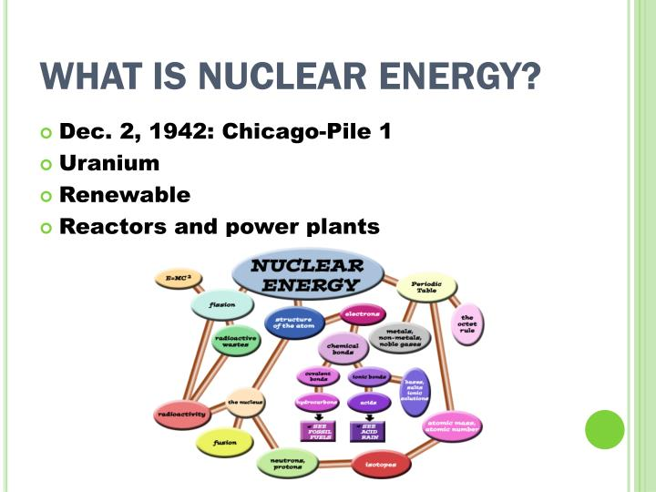 What is nuclear energy