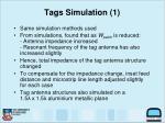 tags simulation 1