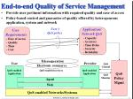 end to end quality of service management