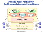 personal agent architecture flexible communication support for mobile users