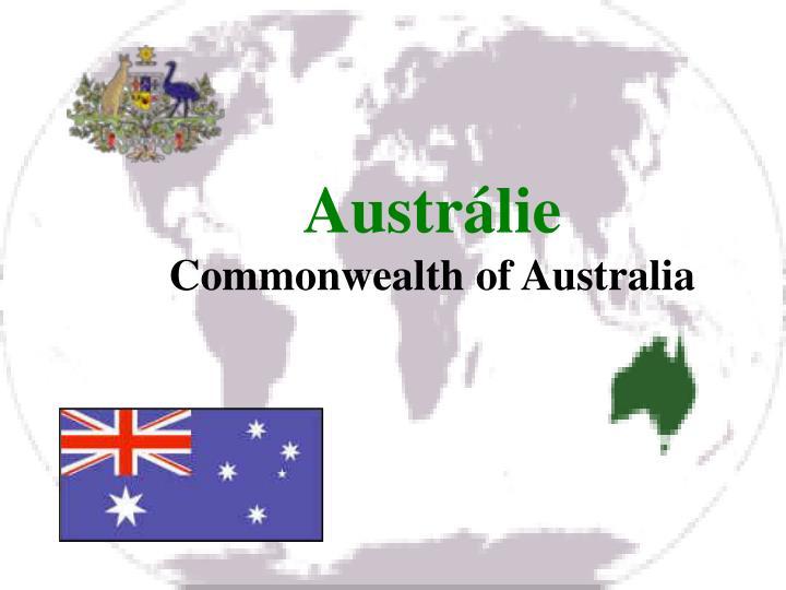 Austr lie commonwealth of australia