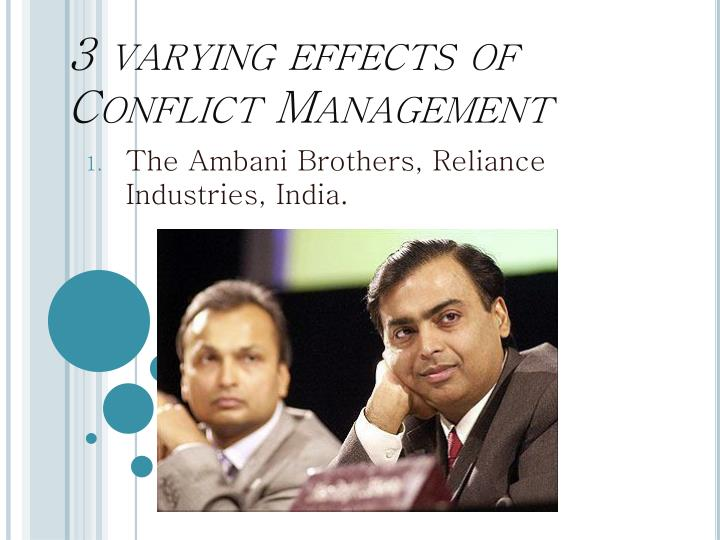 3 varying effects of Conflict Management