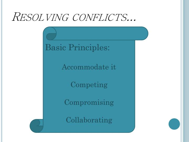 Resolving conflicts...