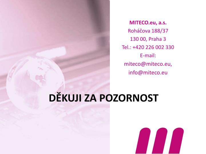 MITECO.eu, a.s.