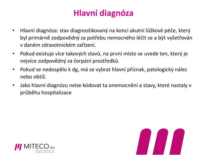Hlavní diagnóza