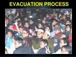 evacuation process